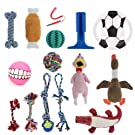 MOSODO Dog Toys 15 Pieces Value Pack │ Including Squeaky Toys, Interactive Rope Chew Toys, Funny Plush Toys, Fetch Toys, Rubber Toothbrushes for Small to Large Size Dogs!