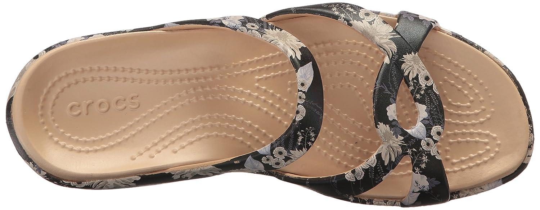 Crocs - Frauen Meleen Twist Graphic flache flache flache Sandale schwarz/Floral 055a97