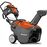 Husqvarna 961830004 208cc Single Stage Electric Start Snow Thrower, 21-Inch, with Headlight