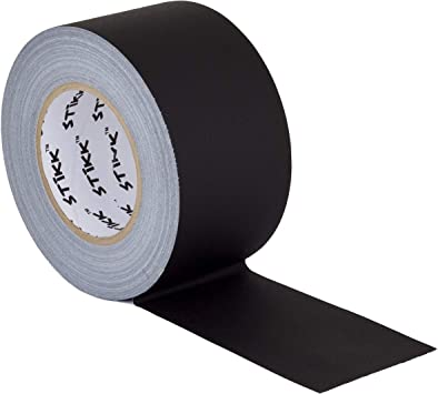 """NO RESIDUE 16 PACK OF GAFFERS STAGE TAPE 3/"""" BLACK inch CASE X 60 YARD"""