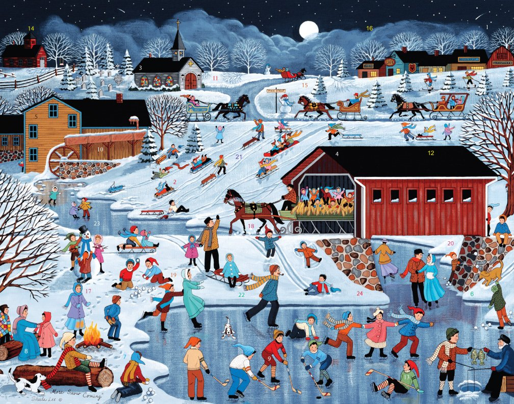 More Snow Coming Advent Calendar Vermont Christmas Company