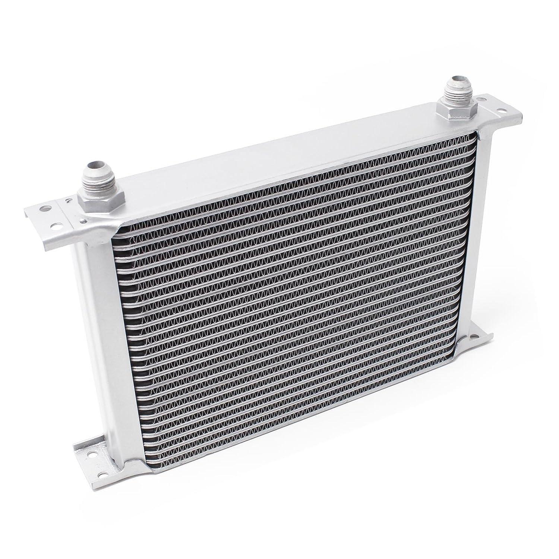 Wiltec Radiatore dell´ olio universale alluminio 25 file Raffredamento dell´ olio 40825