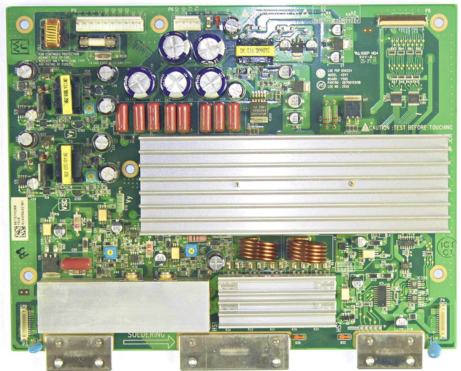 Lg, Toshiba 6871QYH036B Y-Sustain Board 6870QYE011B: Amazon ca