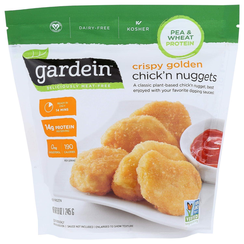 Gardein Crispy Golden Plant-Based Chick'n Nuggets, Vegan, Frozen, 8.6 oz.