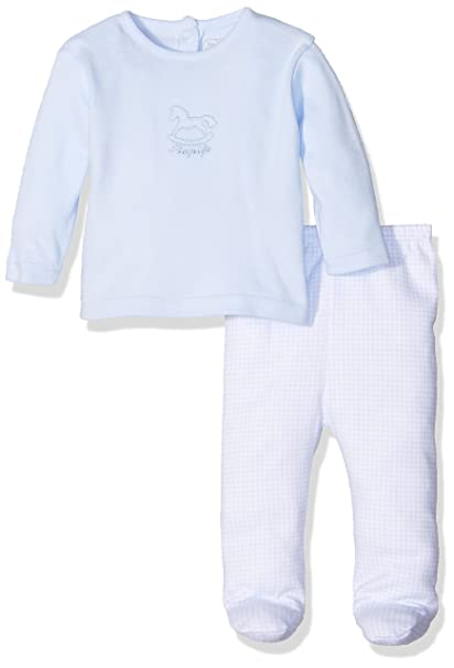 RAPIFE Rocking Horse, Pijama De Dos Piezas para Niños, Celeste, 0M