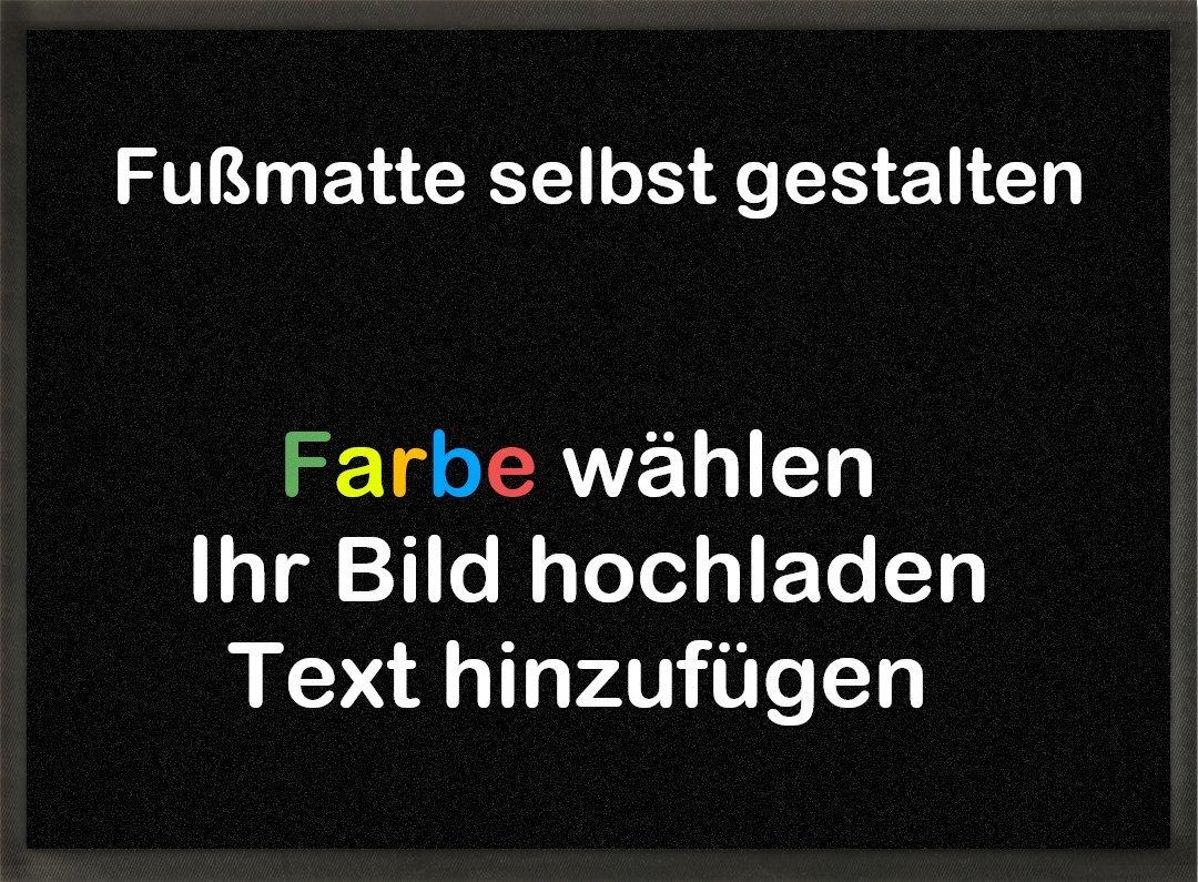 Mymat Fußmatte Zum Selbst Gestalten   Farbe Wählen   Bild Einfügen   Text Hinzufügen (Grau, 90x65cm) B07FCR27NP Fumatten