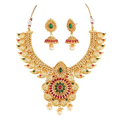 Buy apara traditional copper brass pendant necklace jewellery set apara traditional copper brass pendant necklace jewellery set for women aloadofball Images