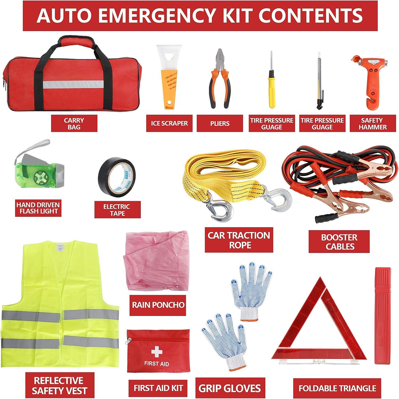 Interior Accessories lensun Car Roadside Emergency Kit Flashlight ...