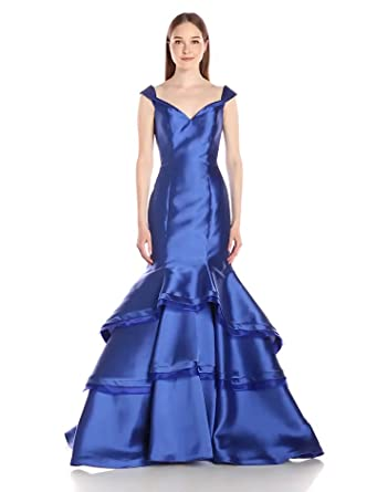 Jovani Womens Shoulder Prom Dress, Royal, ...