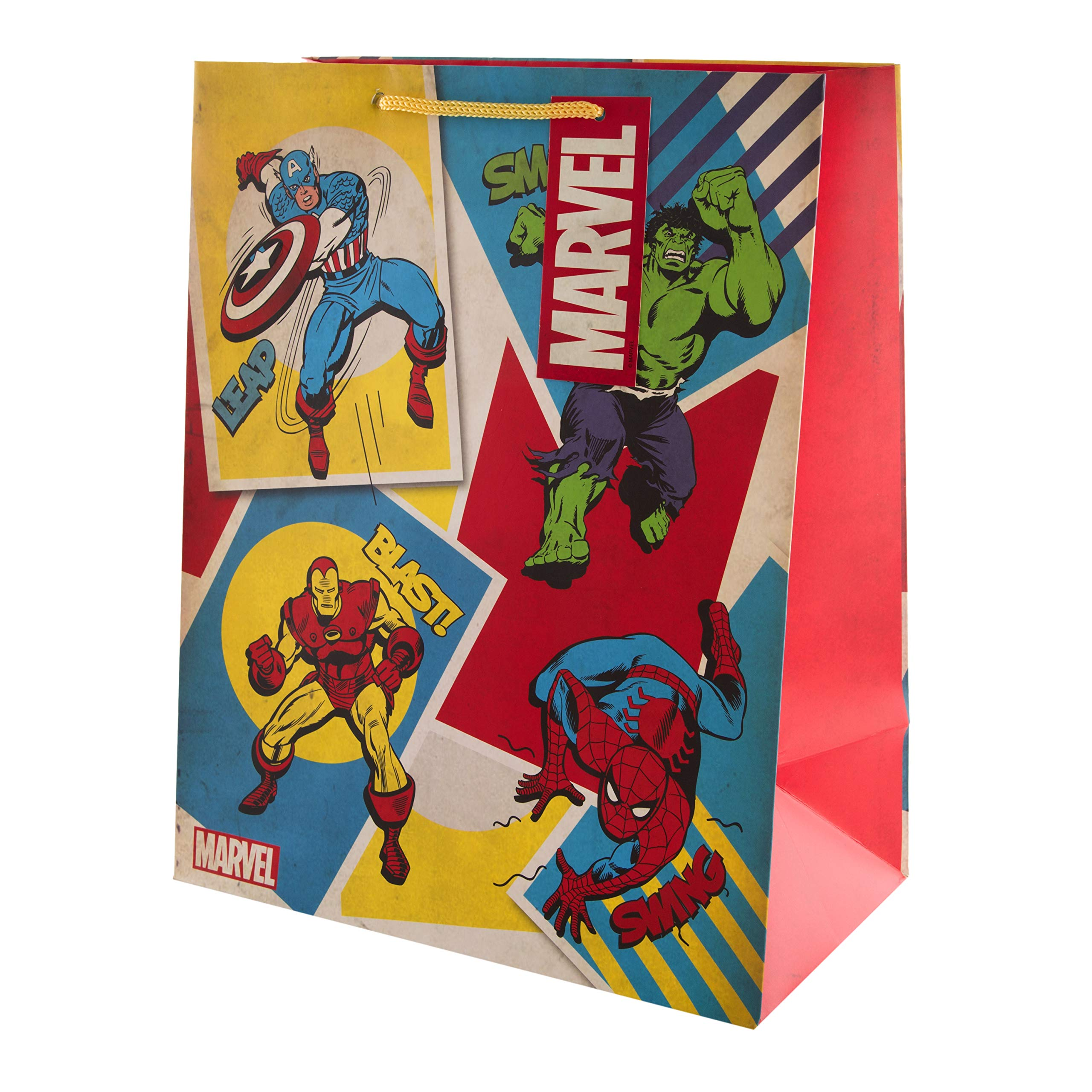 Multi-Occasion Marvel Gift Bag from Hallmark - Superhero Design - Large (Birthday, Christmas, Exam Congrats, Father's Day)