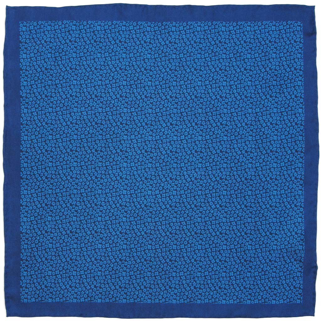 Mens Silk Pocket Square Hand Rolled Hem