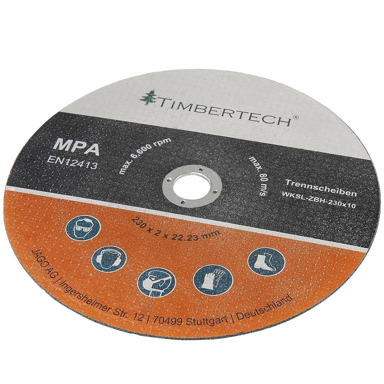 Timbertech - Discos de corte para amoladora de diámetro 230 mm - en juego de 30 piezas: Amazon.es: Bricolaje y herramientas