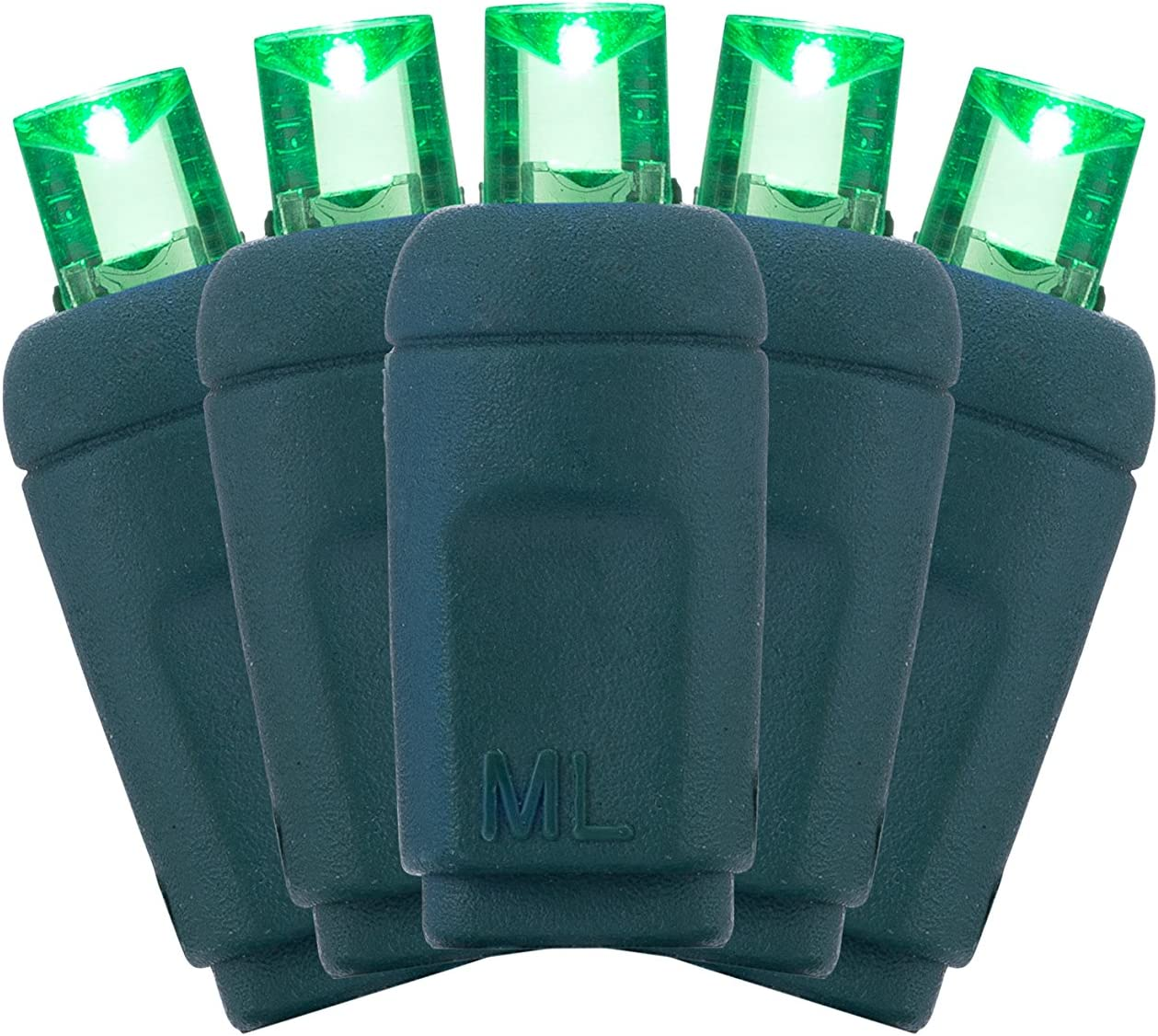 Holiday UL Listed. Party Holiday Lighting Outlet 5MM 70-Count LED Yellow Indoor//Outdoor Mini Light String for Christmas Green Cord and Lawn Lighting Tree Event
