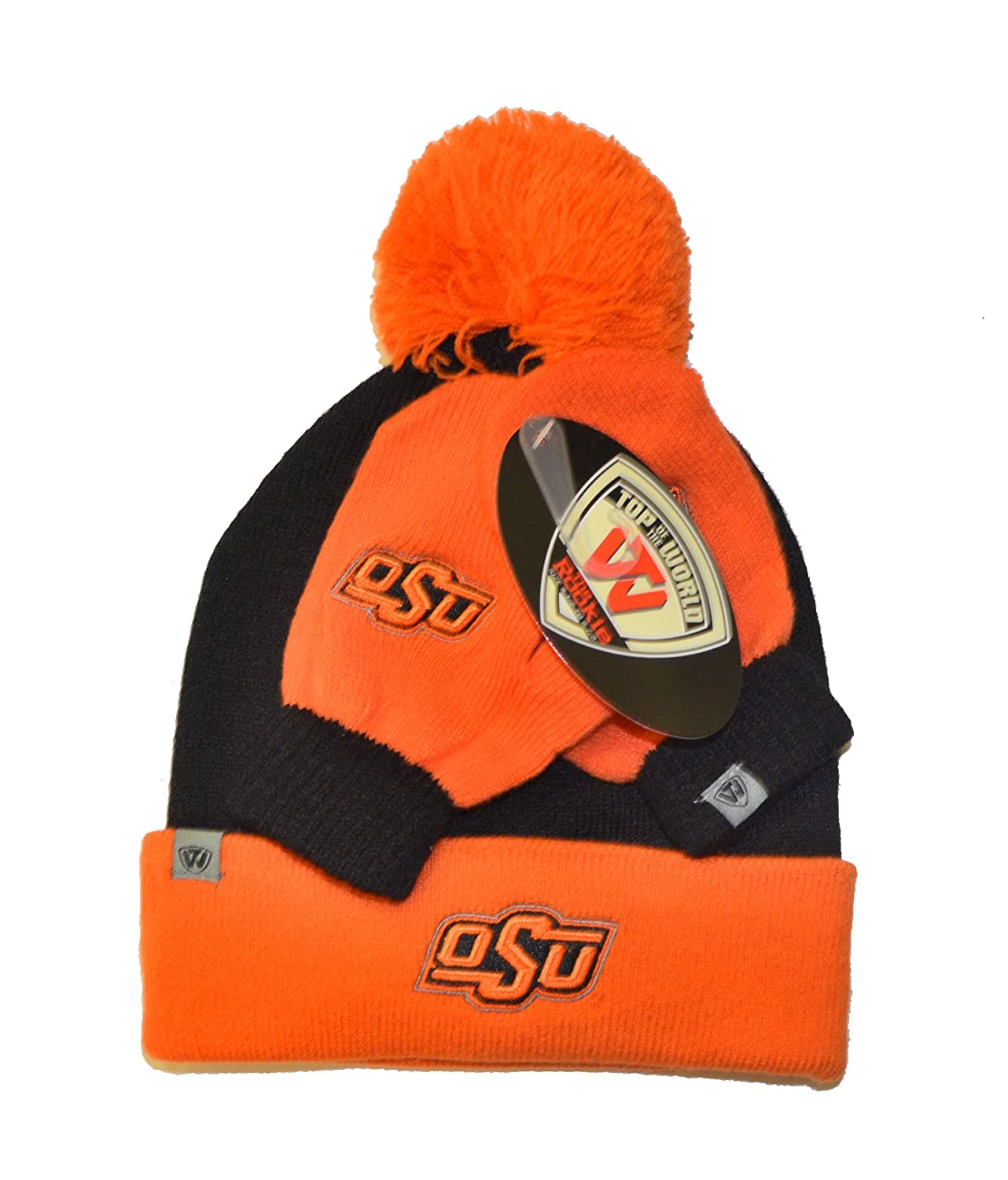 Top of World Lil Dew Toddler Beanie Hat and Mitten Combo NCAA Infant Cuffed Winter Gift Set Cap//Gloves