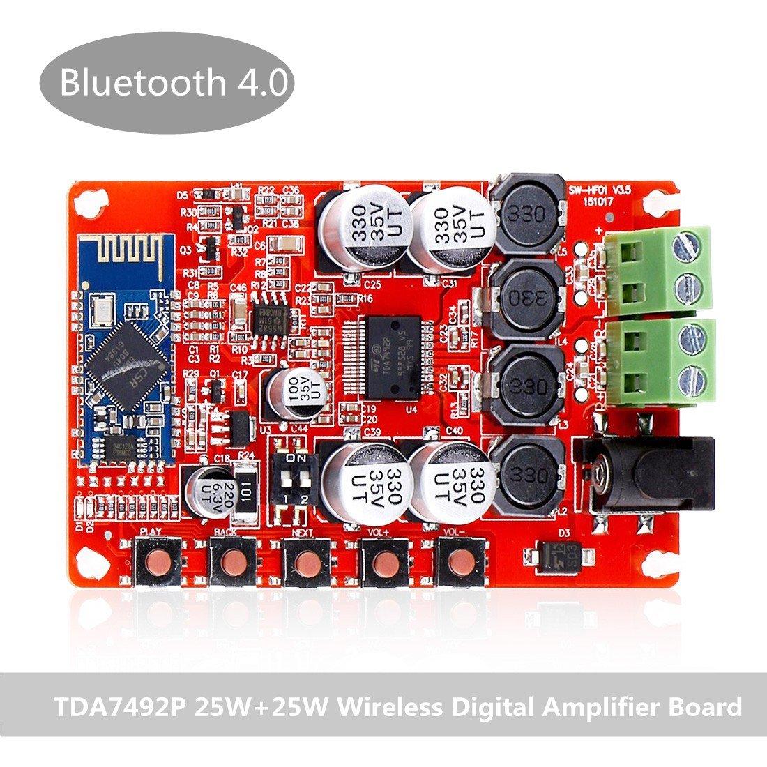 INSMA Amplifier Board TDA7492P Audio Receiver Amplifiers DIY Module 25W Dual Channel by INSMA
