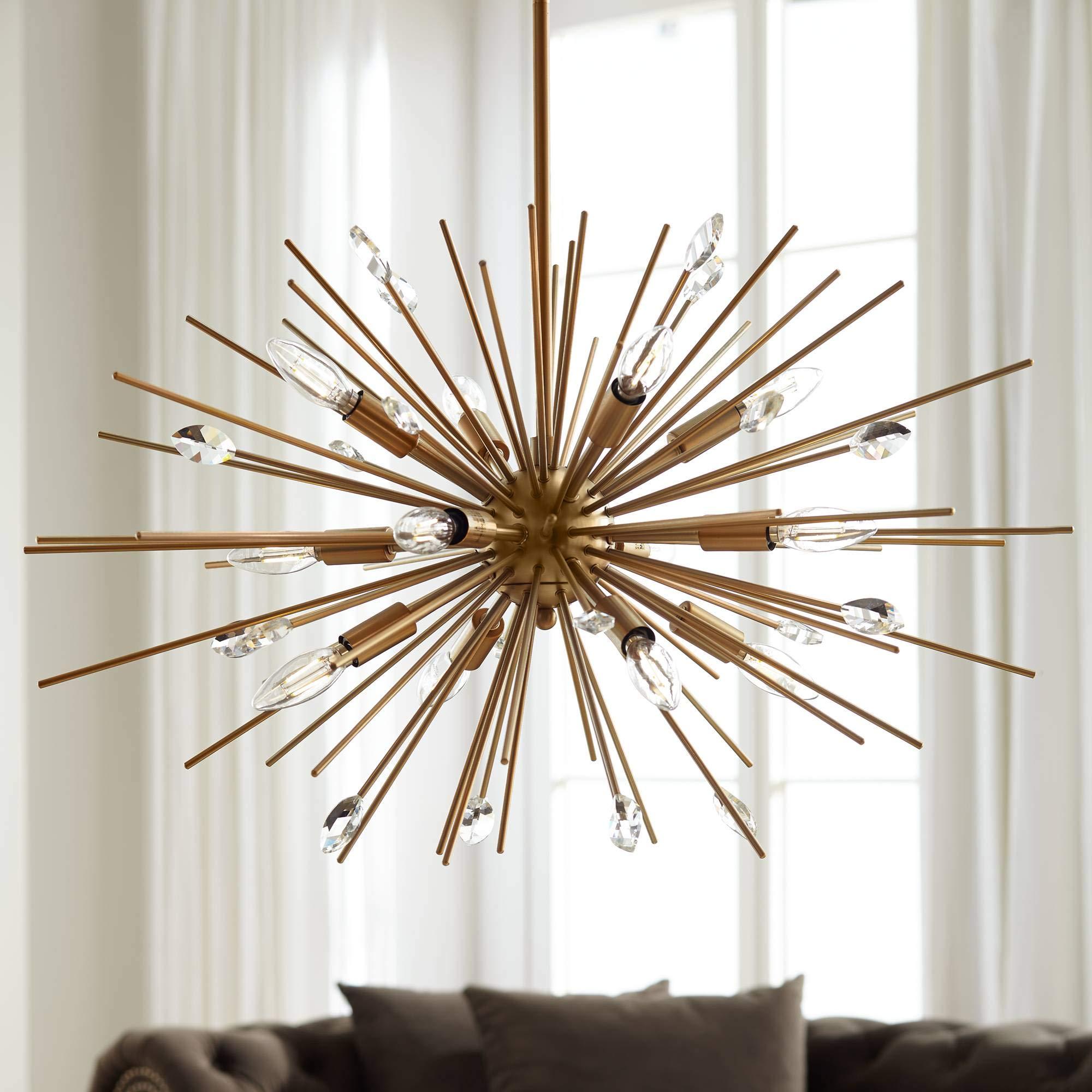 Possini Euro Janae 29 1/2'' Wide Antique Gold Pendant Light - Possini Euro Design by Possini Euro Design