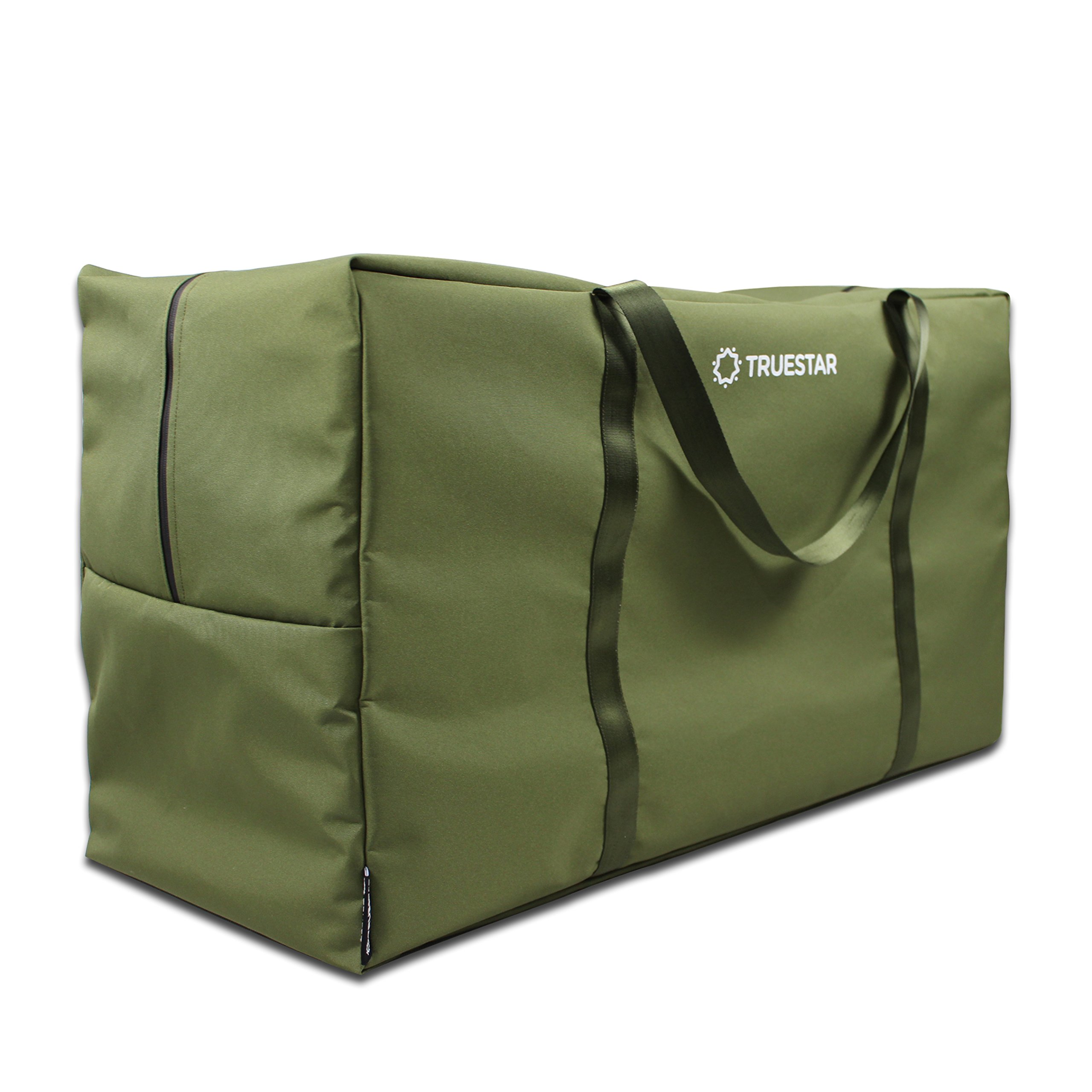 TRUESTAR Patio Cushion Cover Storage Bag Outdoor Water Resistant dust-Proof Non-Woven TPU Patio Rectangular Storage Bag Protective Zippered Patio Furniture Cover with Durable, Green