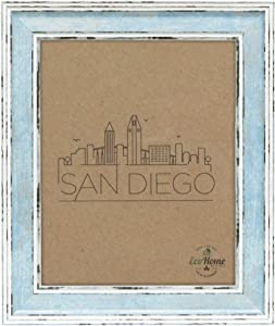 Picture Frame 8x10 Distressed Blue - Mount Desktop Display, Frames by EcoHome