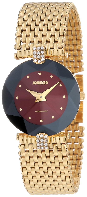 Jowissa Damen-Armbanduhr XS Facet Strass Analog Edelstahl J5.014.M