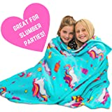 GirlZone: Unicorn Fleece Blanket Throw Blanket