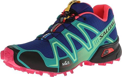 SALOMON SalomonSpeedcross 3 - Zapatillas de Running para Asfalto Mujer g Blue/Emerald Green/Hot Pink Talla:40 2/3: Amazon.es: Deportes y aire libre