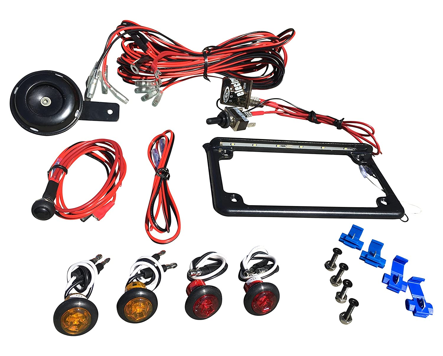 Amazon.com: WD Electronics Polaris RZR Street Legal Kit Blinker Kit Turn  Signals, Horn, licence plate: Automotive