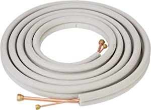 "Senville 25 Ft. Copper Pipes for Mini Split Air Conditioner, 1/2"" & 1/4"", White"