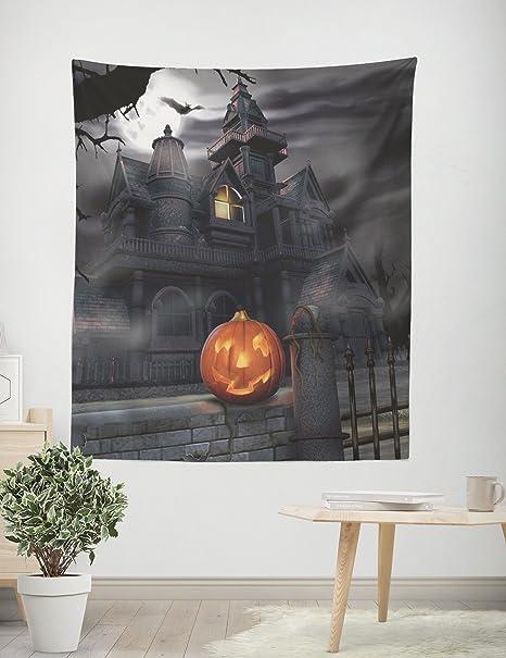 Taige Halloween castello nero e zucca verticale Tapestry, soggiorno ...