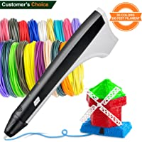 3D Pen Set with 330 feet PCL PLA Filament Refills – 3D Pens for Kids Teens Adults – 3D Doodler Pen for Girls Boys – 3D Printing Printer Pen Case – 3Doodler Create Black