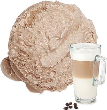 Latte sabor 1 kg de helado suave Danés Gino Gelati escamosa helado de polvo suave helado en polvo