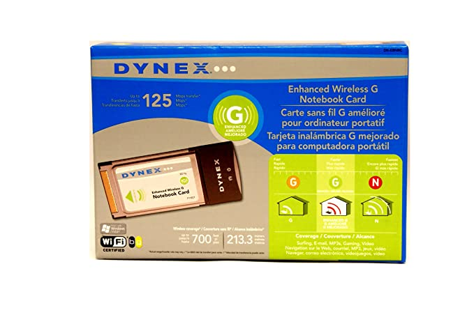 Dynex Wireless G Notebook Card