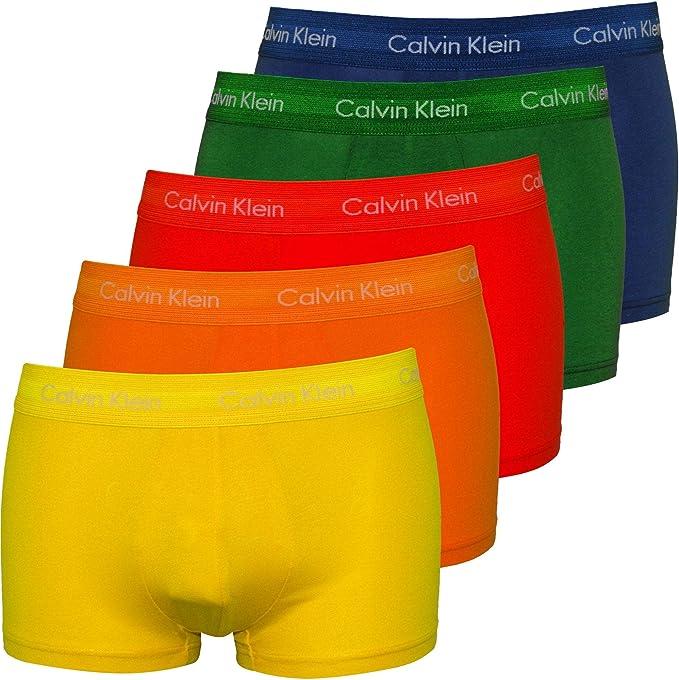 Calvin Klein Hombre Paquete de 5 Troncos de Baja Altura, L: Amazon ...