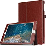 WkHocYHm iPad 9.7 2018 2017 / iPad Air 2 / iPad Air Case - Premium PU Leather Folio Smart Cover Auto Sleep / Wake for Apple iPad 6th / 5th Gen, iPad Air 1 2 (Vintage Brown)