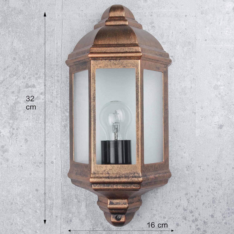 più luminoso 12w LED Alluminio Lampada Muro Lampada da parete vetro Lampada da parete in oro antico incl