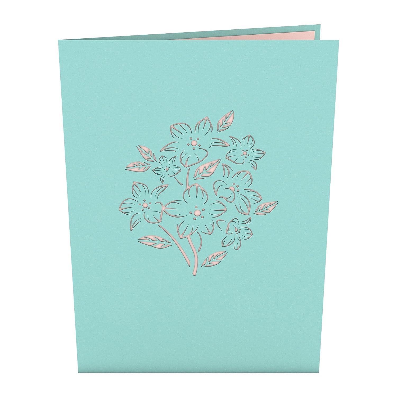 Tarjeta En 3d Floral Bouquet