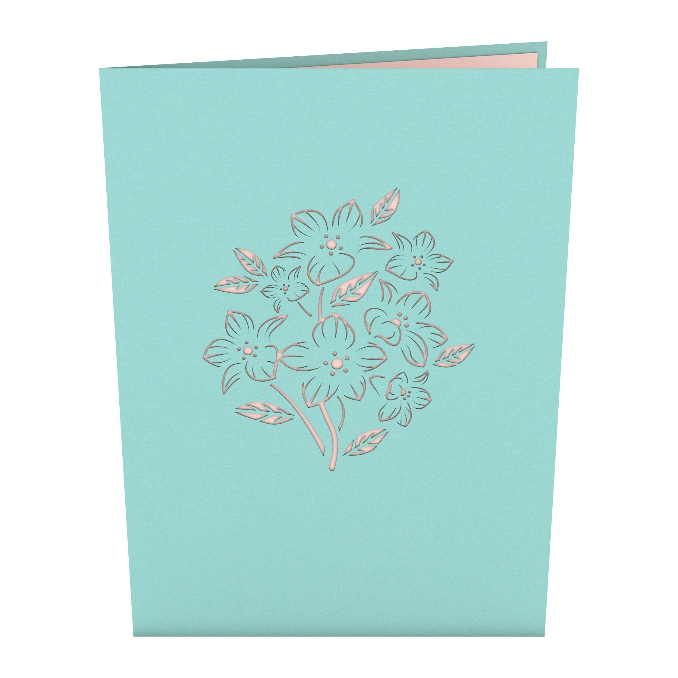 Lovepop Floral Bouquet Blue Pop Up Card 3d Card Mothers Day Card
