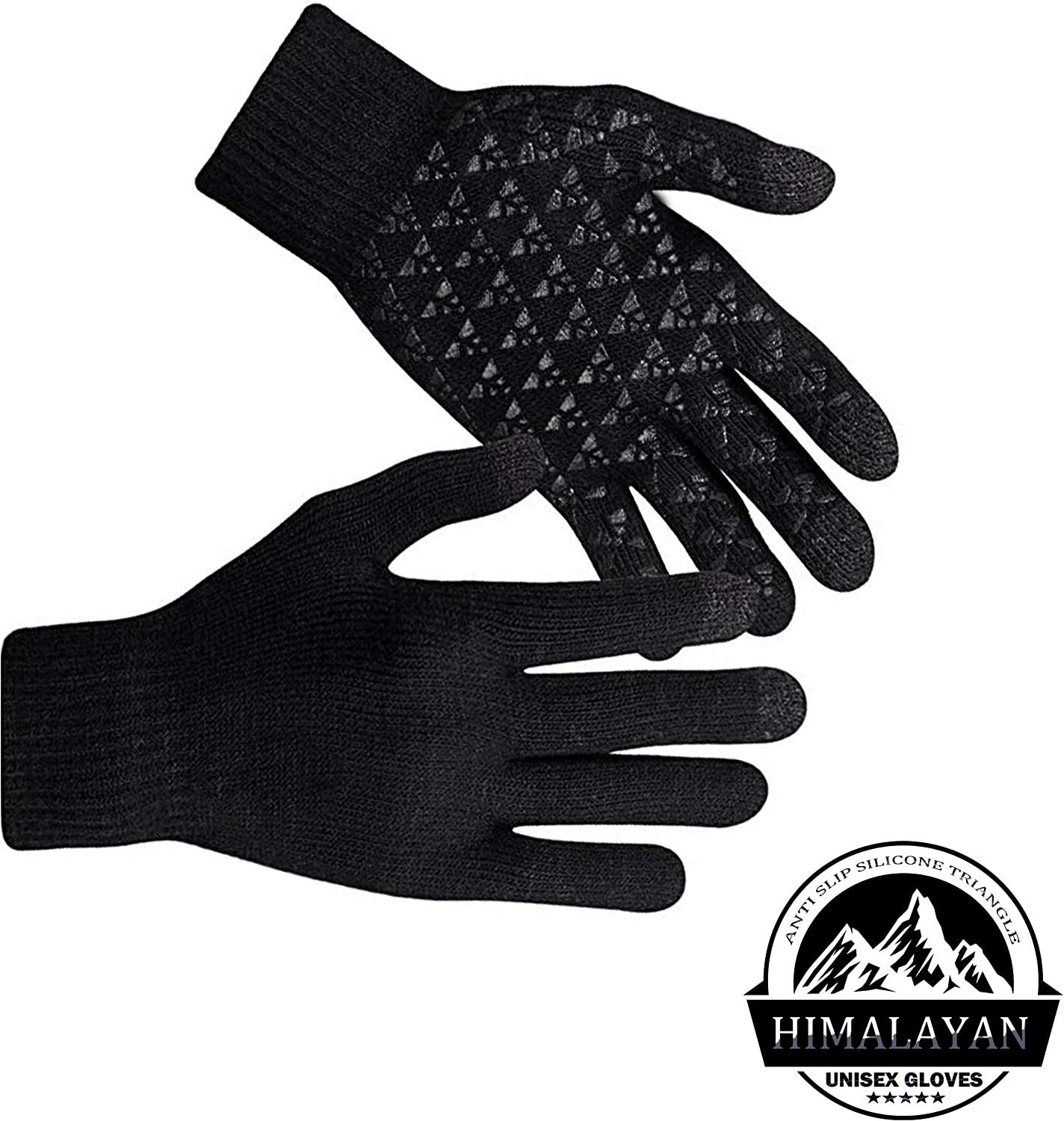 HIMALAYAN TOUCHSCREEN UNISEX GLOVES Windproof and Warm Hand Knit Gloves for Men/'s and Women/'s Small//Medium Winter Knitted Gloves