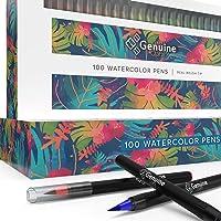 100-Ct Genuine Crafts Watercolor Brush Pens
