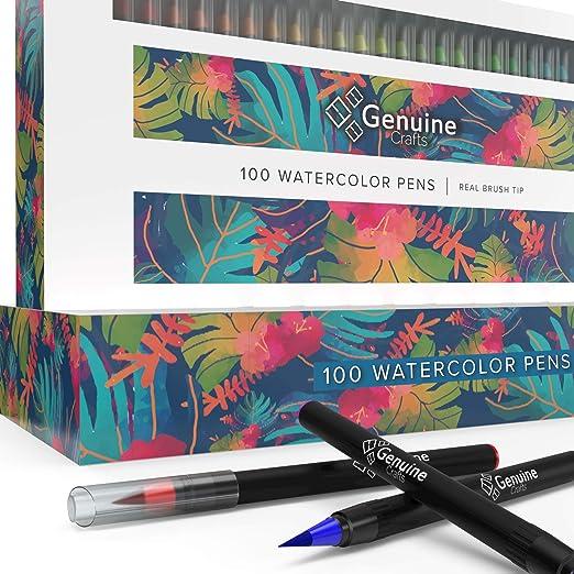 Amazon De Genuine Crafts Aquarell Brush Pens Satz Von 100