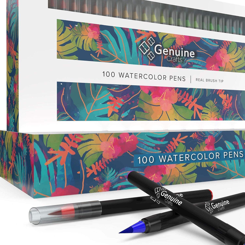set de 100 pinceles waterbrush de colores, Genuine Crafts