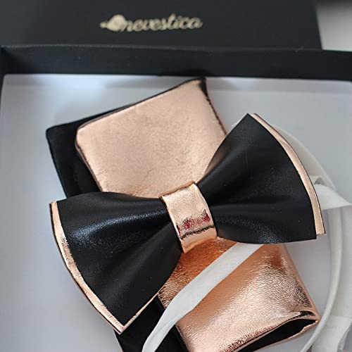 Bow tie for boys Gold and black bow tie Groom Bow tie Groomsmen bow tie Floral bow tie Wedding Gift Wedding Bow tie