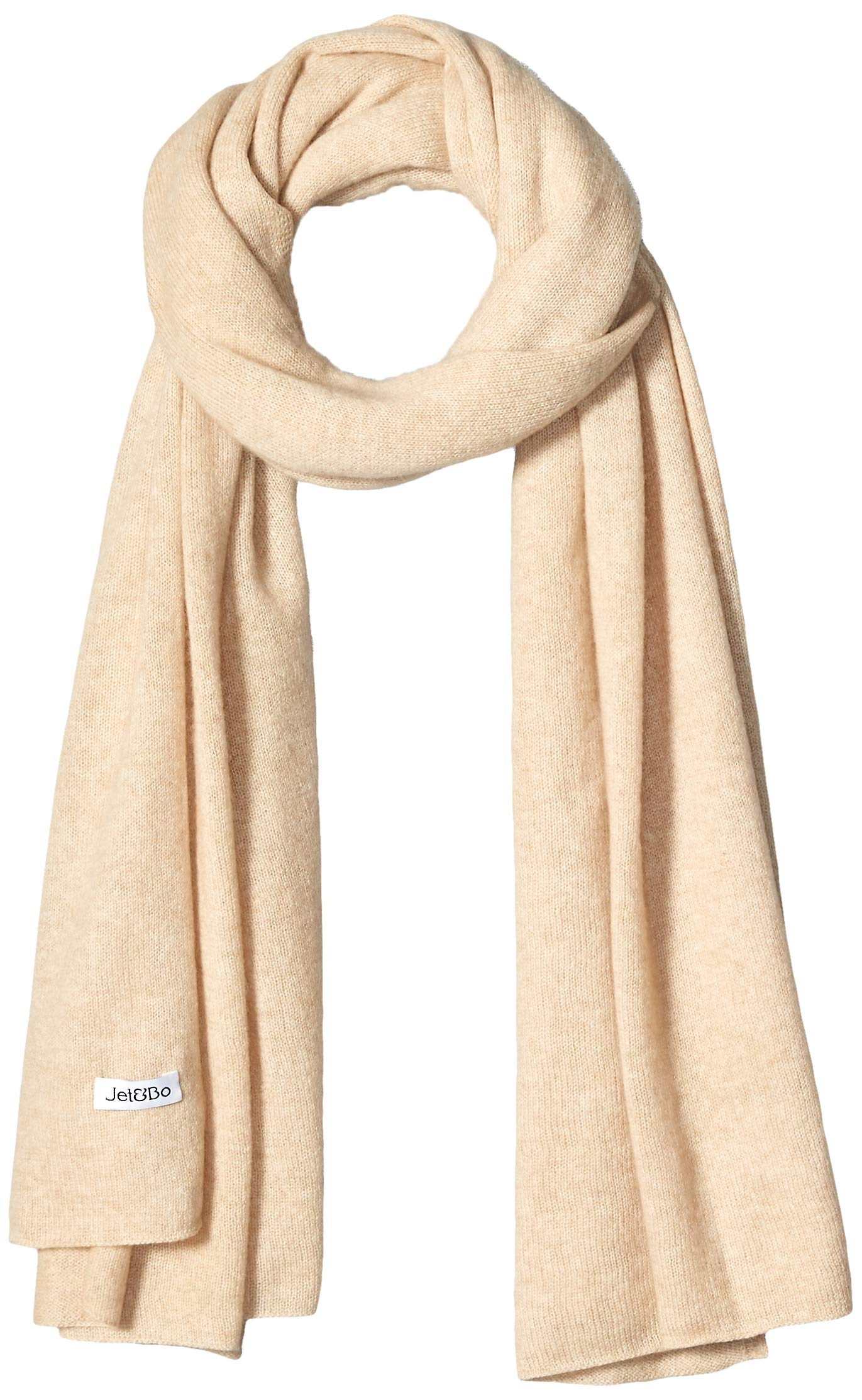Jet&Bo 100% Pure Cashmere Lightweight Travel Wrap & Scarf Beige 7GG by Jet&Bo (Image #1)