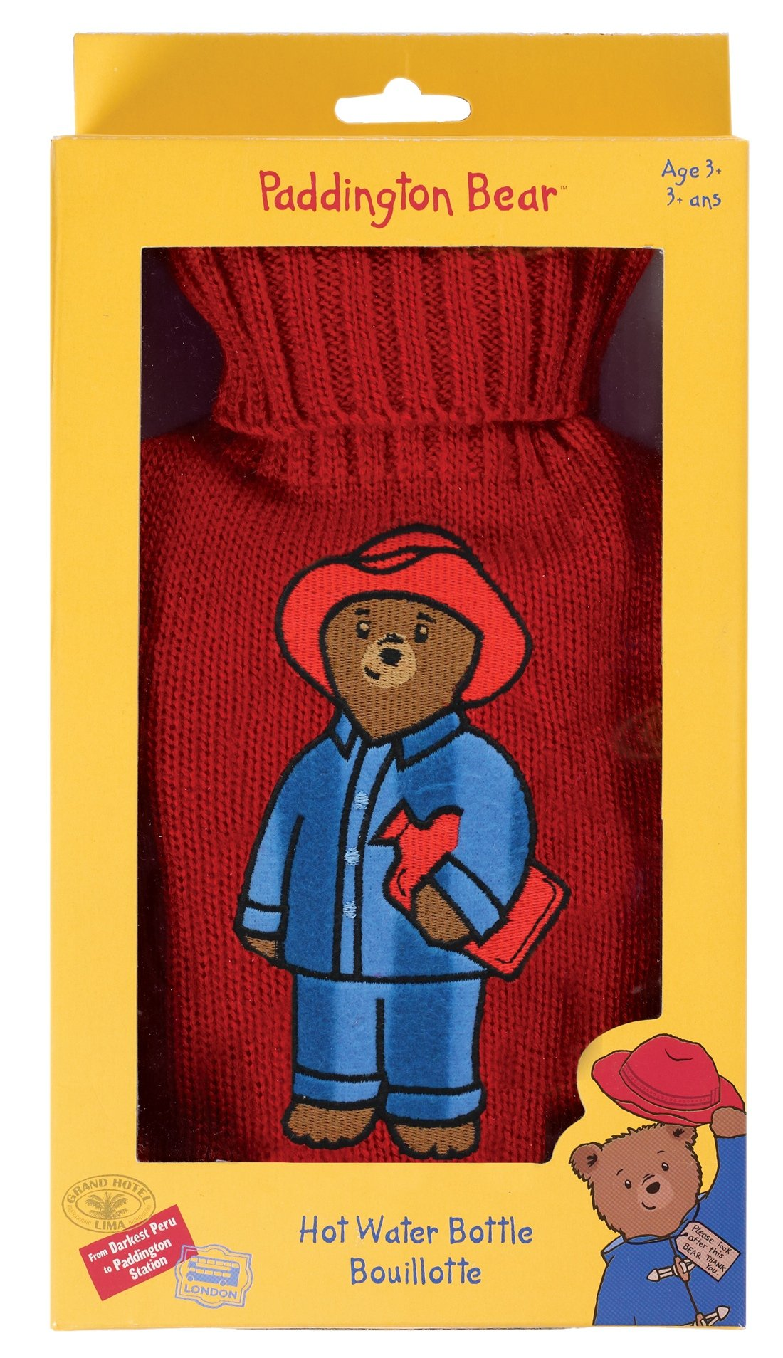 Paddington Bear by Upper Canada Child's Hot Water Bottle, Red