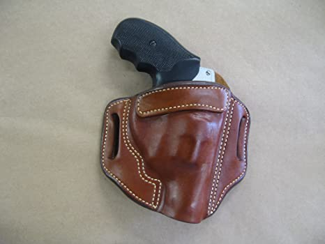 Azula Leather OWB 2 Slot Molded Pancake Belt Holster for Charter Arms  Pitbull  40 CCW TAN RH