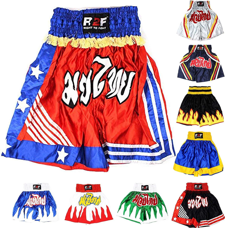 R2F Sports Boxe Les Troncs Sparring Entra/înement MMA Muay Thai Bas Arts Martiaux Kickboxing Short