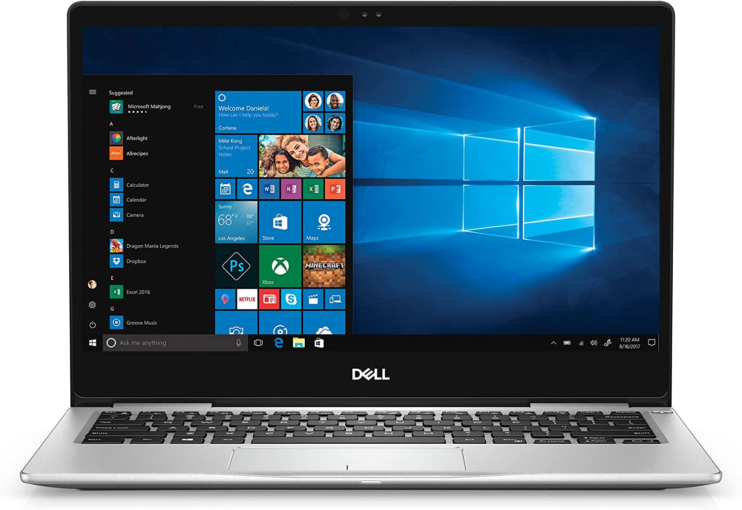 Amazon Com Dell Inspiron 13 7000 7370 Laptop 13 3 Touchscreen Ips Fhd 1920x1080 8th Gen Intel Quad Core I5 8250u 256gb Ssd 8gb Ddr4 Backlit Keyboard Windows 10 Computers Accessories