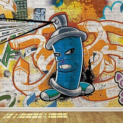 cool graffiti spray can 4 wallpaper mural amazon com