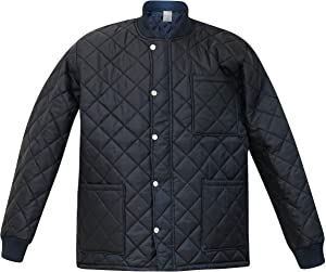 PROCTEX Black Quilt Freezer Jacket | Outdoor Apparel Short Puffer Jacket Work Clothes for Men with Sleeves | Diamond Quilts and Zipper Snap Closure for Water Resistance and for Cold Climates (M)
