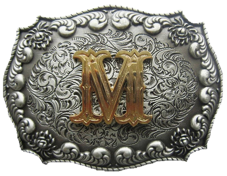 JEAN'S FRIEND Original Initial Letter M Cowboy Cowgirl Western Belt Buckle