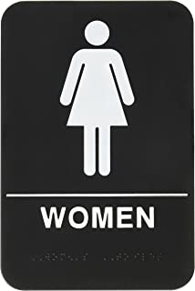 rock ridge women restroom sign blackwhite ada